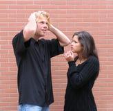 Argumentation de couples Images stock