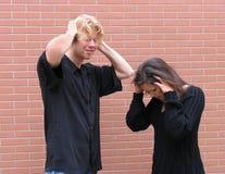 Argumentation de couples Image stock