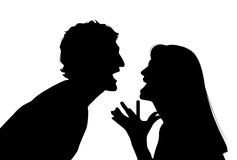 Argumentation de couples Image libre de droits