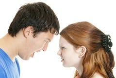 argumentation de couples de Mélangé-chemin Image stock
