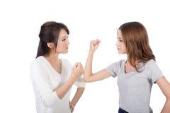 Argumentation de deux femmes Photographie stock