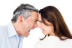 Argumentation fâchée de couples image libre de droits