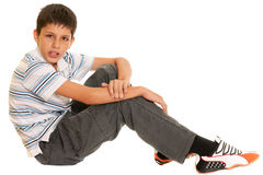 Argumentative boy Stock Photo