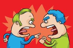 Argumentierung der Männer Stockfotos