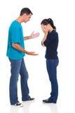 Argumentierung des verheirateten Paars Lizenzfreie Stockbilder