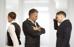 Argumentierung, Konflikt, Geschäftskonzept stockfotografie