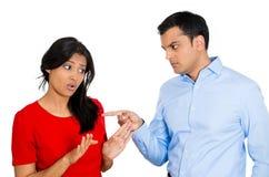 Argumentierung von Paaren Lizenzfreies Stockfoto