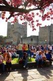 Argumentos apretados del castillo de Rochester Foto de archivo