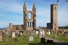 Argumentos de la catedral del St Andrews Imagenes de archivo