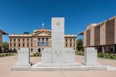 Argumentos del capitolio del estado de Arizona Fotos de archivo libres de regalías