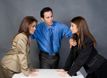 Arguments. Two business women arguing about the contract deal stock photography