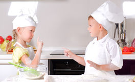 Arguments in the kitchen Stock Photography
