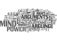 Arguments Steal Mind Power Word Cloud Stock Photo