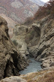 Argun Canyon in Chechnya mountains Stock Image