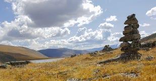 Argutrivier en riviervallei bij Altai-gebied royalty-vrije stock fotografie