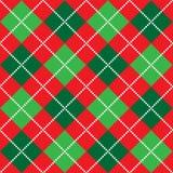 argyle圣诞节模式 免版税库存图片