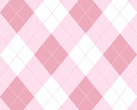 argyle桃红色白色 免版税图库摄影