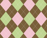argyle棕色绿色粉红色 库存照片