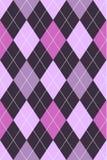 argyle模式粉红色紫色 免版税库存照片