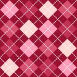 argyle模式粉红色 免版税库存图片