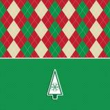 argyle背景圣诞节模式结构树 免版税图库摄影