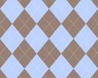 argyle蓝色褐色 图库摄影