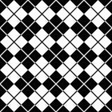 argyle黑色模式白色 免版税库存图片