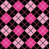 argyle黑色紫红色模式粉红色 库存照片