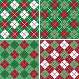 argyle πρότυπο Χριστουγέννων Στοκ εικόνα με δικαίωμα ελεύθερης χρήσης