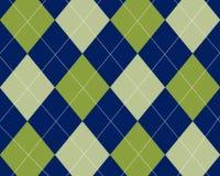 Argyle azul e verde Fotografia de Stock Royalty Free