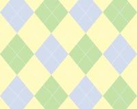 Argyle azul, verde e amarelo Fotos de Stock Royalty Free