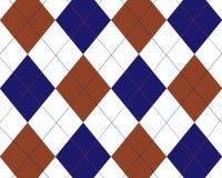 Argyle azul, vermelho e branco Fotos de Stock
