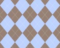 Argyle azul y marrón Fotografía de archivo