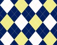 Argyle Background. Blue, white and yellow argyle graphic design Royalty Free Stock Photos