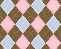 Argyle Background. Funky blue, pink and brown argyle background Royalty Free Stock Images