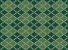 Argyle background pattern. Seamless argyle background pattern in pastel green colors. Vector illustration Stock Photos