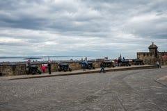 Argyle battery cannons in Edinburgh Castle Stock Images
