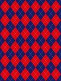 Argyle bianco e blu rosso Fotografie Stock