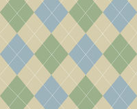 Argyle blu, verde e tan Fotografia Stock Libera da Diritti