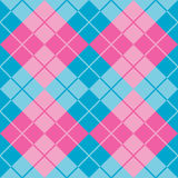 Argyle in Blue and Pink. Argyle pattern in contrasting shades of blue and pink repeats seamlessly Stock Photo