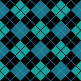 Argyle blue seamless background Royalty Free Stock Image