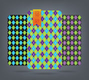 Argyle and chevron patterns. Royalty Free Stock Image