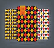 Argyle and chevron patterns. Royalty Free Stock Photo