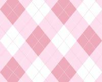 Argyle cor-de-rosa e branco Fotografia de Stock Royalty Free