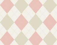 Argyle cor-de-rosa e tan Imagem de Stock Royalty Free