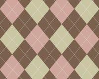 Argyle de Tan, cor-de-rosa e marrom Imagens de Stock Royalty Free