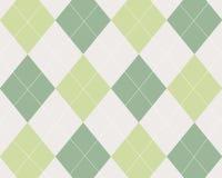 Argyle de vert, tan et blanc Photographie stock