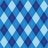Argyle deseniowego błękitnego rhombus bezszwowa tekstura Obrazy Stock