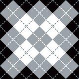 Argyle Design dans gris, le blanc et le noir Photographie stock