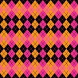 Argyle Design dans rose, l'orange et le noir Photo libre de droits